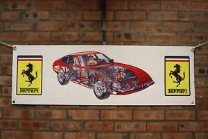 Ferrari Daytona 365 gtb4  large pvc banner  garage  work shop car show banner
