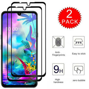 2 Pack For LG G8X ThinQ Full Coverage Tempered Glass Film Screen Protector x2
