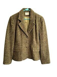 St John's Bay Green Tweed Wool Blazer XL