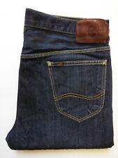 Lee Billy Jeans de hombre pierna ahusada entrepierna caída W 34 L 32 Azul Oscuro levj 681 #
