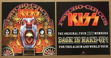 KISS 1998 SET of 2 DOUBLE SIDED PROMO POSTER FLAT of Psycho CD MINT Gene Simmons