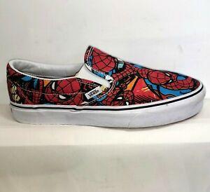 Vans  Marvel Spiderman Slip-on Sneakers Men's Size 9/ Women's 10.5