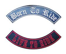 Faux Leather Rocker Custom Personalised Biker Embroidered Patch - Name/Club/Bike