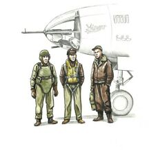 CMK 72339 WWII US bomber pilot and two gunners 1:72