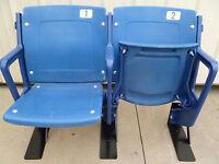 Tiger Stadium seats - BLUE - Refurbished, Authentic w/ COA