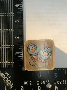 """Vintage Rubber Stamp """"Mitten Pair"""" by STAMPENDOUS RS1."""