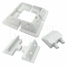 Solar panel corner and side mounting brackets with cable gland (plastic mounts)