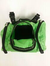 Green Bike Handlebar Bag 2 side Pocket Waterproof