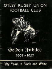 """OTLEY RUGBY UNION FOOTBALL CLUB - """"Golden Jubilee 1907-1957"""" RUGBY BOOKLET"""