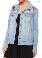Sanctuary Ltd Edition Women's  Butterfly Denim Jean Jacket Size X-Small