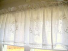 Kurzgardine CRYSTAL WEISS 45x250 LillaBelle Shabby Vintage