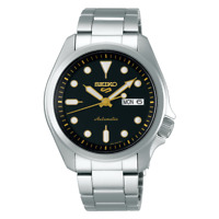Seiko 5 Sports 40mm Full Stainless Steel Black Dial Automatic Watch - SRPE57K1