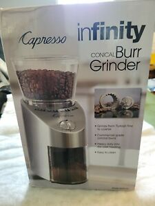 Capresso 565.05 Infinity Conical Burr Grinder - Stainless Steel
