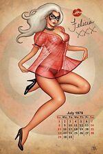 Nathan Szerdy SIGNED Marvel Comic Spiderman Art Print ~ Black Cat Felicia Hardy