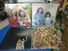 Crosby Nash 4 lp lot  Whistling Down The Wire, Live, Wind On Water, S/T