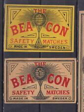 Ancienne  étiquette    allumettes Suède  AZ2481 Bea Con 5
