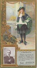 Carte publicitaire LU Lefèvre Utile comédie française  Jules Leitner