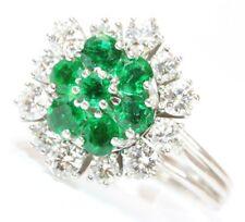 ♦♦♦14kt Smaragd Gold Ring Smaragdring Brillant Brillantring Brillanten Brilliant
