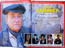 JEAN CARMET => coupure de presse 4 pages 1990 / CLIPPING