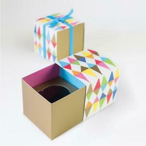 NEW Paper Eskimo Cupcake Gift Box 6pc Carnival Chaos Pattern