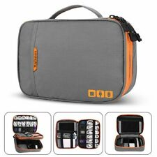 Electronic Cable Bag Portable Double Layer Thicken Case Hard Drives