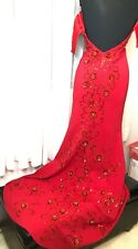 Sherri Hill  Size 4 Red Maxi Gown Sequin Beaded with Train Prom Gala