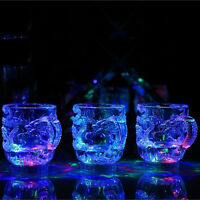 Dragon pattern LED Light Whiskey Shot Glass Cup Drinking Ware Bar luminous Cup