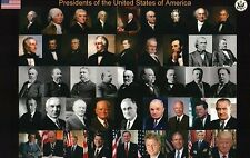 All Presidents of the United States George Washington to Donald Trump - Postcard