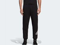 ADIDAS PANTALONE TUTA UOMO MUST HAVES FRENCH TERRY BADGE OF SPORT DQ1445 NERO