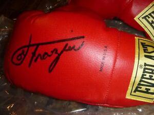 Joe Frazier JSA SIGNED! Everlast Boxing Glove Pair- LOA#Z8835, SI 9/96 & Ali DVD