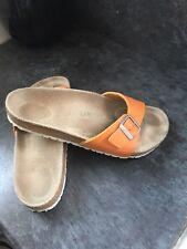 Womens Birkenstock Slippers Orange Size 8