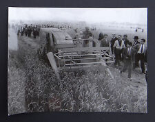Photo ancienne BRAUD moissonneuse batteuse A2080 tractor tracteur Traktor 8