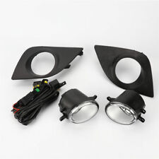 Clear Lens Fog Lights Lamps kit W/ Switch Cable Bezel for Toyota 14-16 Corolla