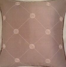 A 16 Inch cushion cover in Laura Ashley Lucille Silk Mauve fabric