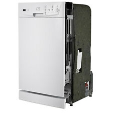 Energy Star White 18-inch Built-In Dishwasher Panel Controls