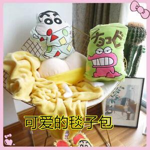 Crayon Shin-chan fuzzy pillow cushion blanket nap quilt pillows blankets fashion