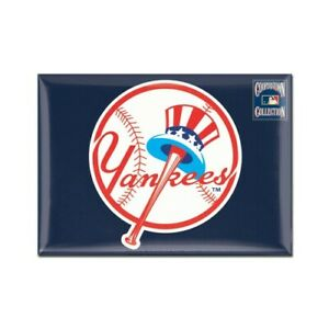 """NEW YORK YANKEES COOPERSTOWN COLLECTION RECTANGLE MAGNET 2.5""""X3.5"""" MLB LICENSED"""