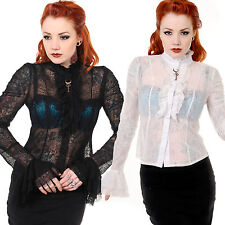 Life in Lace Shirt | Victorian Lace Shirt with Key | lace Gothic Shirt
