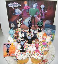Disney Vampirina Cake Toppers Set of 14 with 12 Fun Figures and 2 neat Stickers
