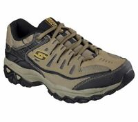 Skechers shoes 4E Wide Width Men's Pebble Memory Foam Leather Sporty Train 50125