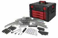 320-Piece Mechanic's Tool Set with Storage Case Sockets Ratchets Repair Tool