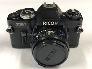 C02_028 Ricoh XR 7 35mm Camera with 50mm Rikenon Lens Stamped Japan