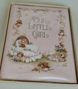 Vintage Our Little Girl Hallmark Baby Book Album New in Box  8.5 X 11