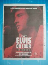 ELVIS PRESLEY - London 02 Arena 2017 - Full Page Newspaper POSTER  360mm x 280mm