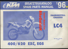 KTM LC4 400 620 EXC EGS (1996) Spare Parts Manual CHASSIS Factory Issue BJ59