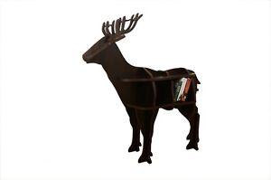 Eco Friendly Wooden Standing Deer Shape Book Shelf 2 Tier Home Office Detachable