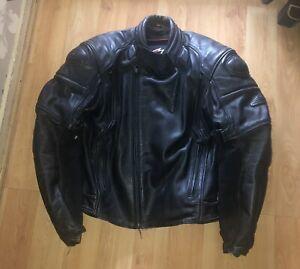 HEIN GERICKE LEATHER MOTORCYCLE JACKET - UK 34