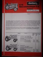 Prospectus sales brochure Holder tarif multifonctions remorqueur 12 ps B 16