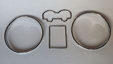 NEU VW Bora Golf 4 IV Passat 3b B5 T4 Van poliert chrom tachoringe gauge rings