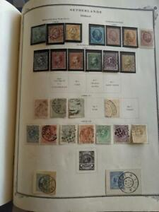 Netherlands & Colonies - Collection on 97 Old Album Pages (ref #1-0418)
